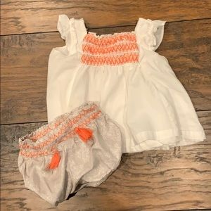 Tommy Bahama Smocked Top and Bloomer shorts